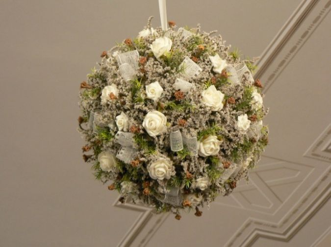 Dry-and-Artificial-Flowers-for-Ceiling-Decoration How to Decorate Your Home Using Flowers