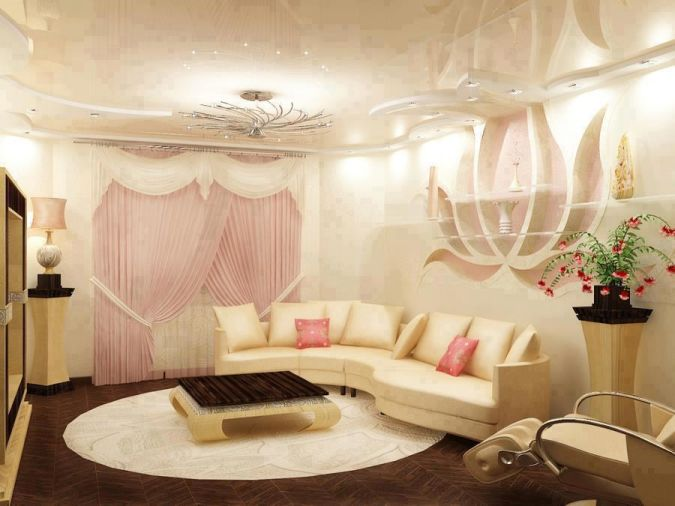 Floral-Living-room 20+ Awesome Images for the Latest Models of Curtains