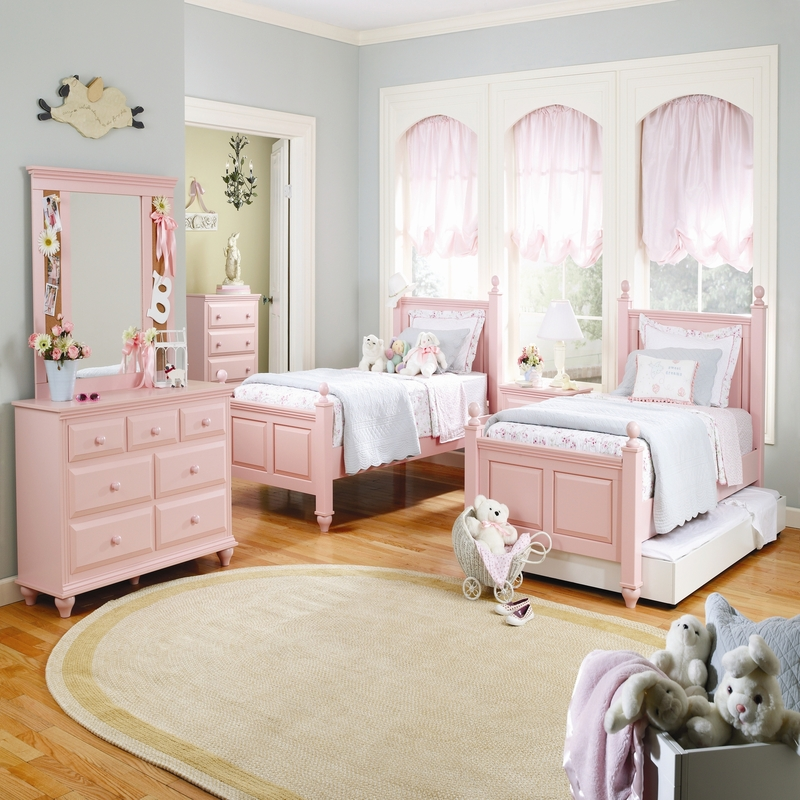 Girls-bedroom-ideas-in-Blush-Pink-finishing-by-Wildon-Home Girls' Bedroom Decoration Ideas and Tips