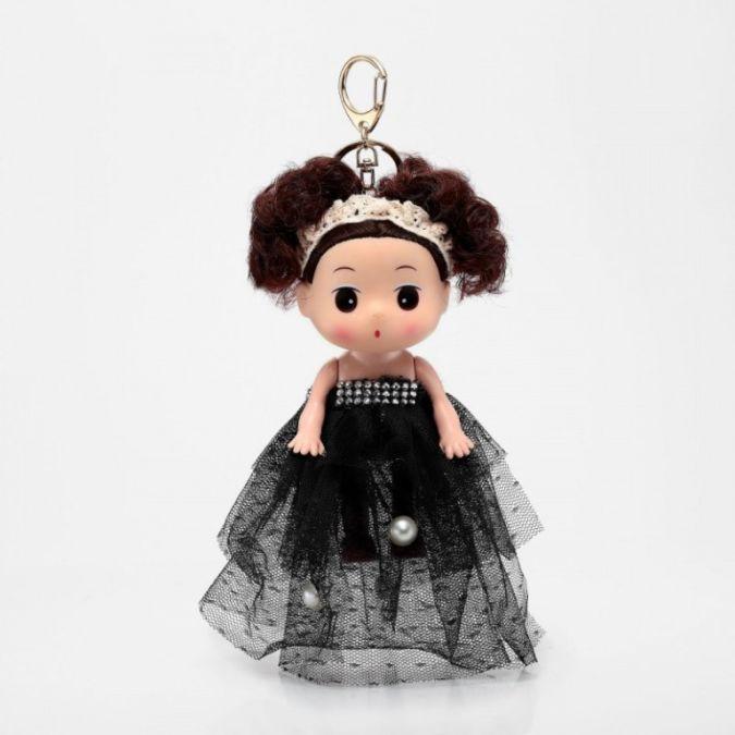 Handmade-Dress-Doll-Keychain-Black 23 Most Creative Handmade Gift Ideas