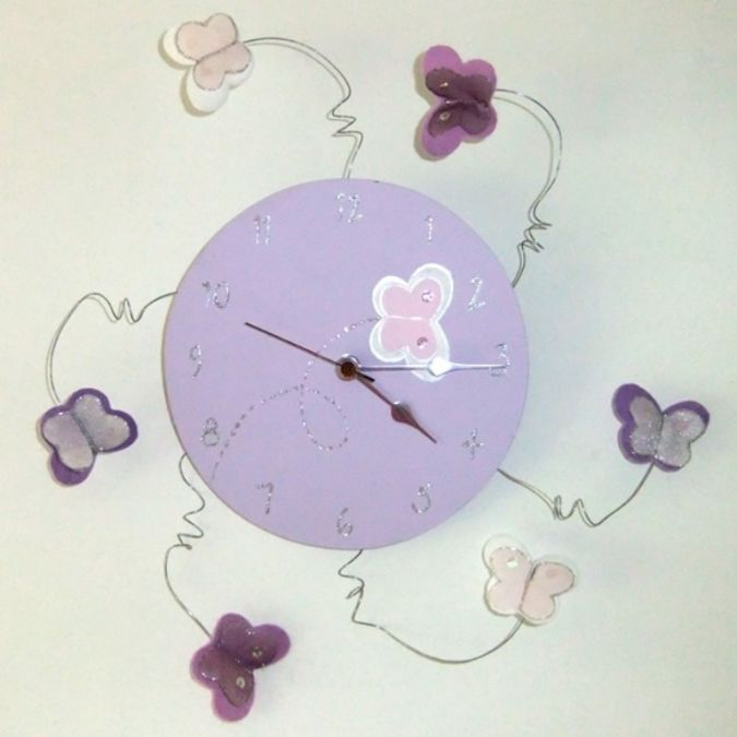 Handmade_Childrens_Clock_Butterfly 23 Most Creative Handmade Gift Ideas