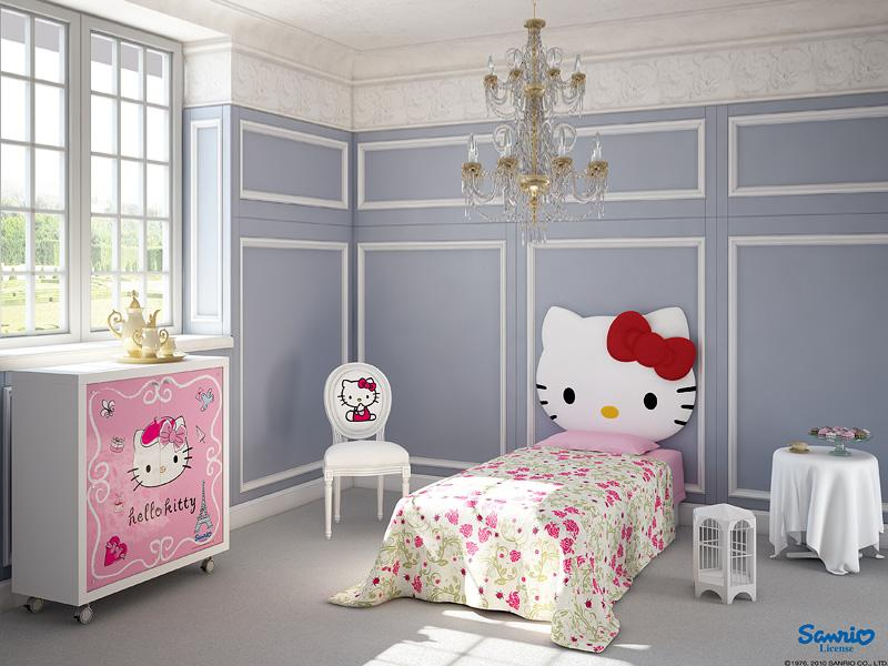 Ideas-to-Paint-a-Girls-Room-with-Hello-Kitty-Heardboard Girls' Bedroom Decoration Ideas and Tips