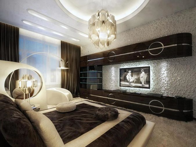 Illuminated-Bedroom Awesome and Dazzling Suspended Ceiling Decorations