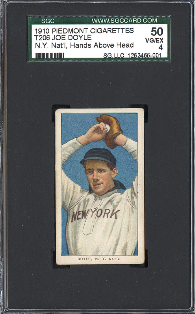 Joe-Doyle List of the World's 10 Most Expensive Baseball Cards