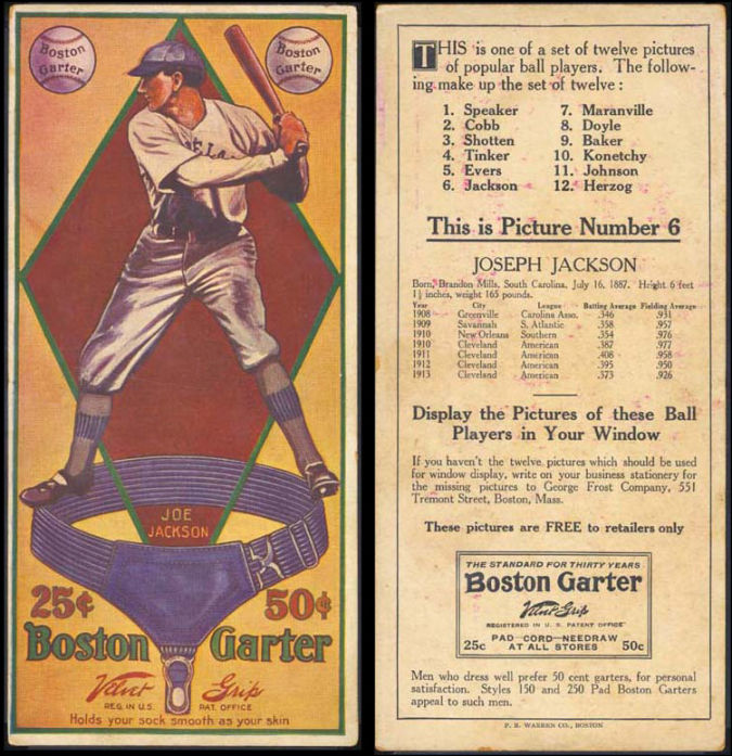 Joe-Jackson-1914 List of the World's 10 Most Expensive Baseball Cards