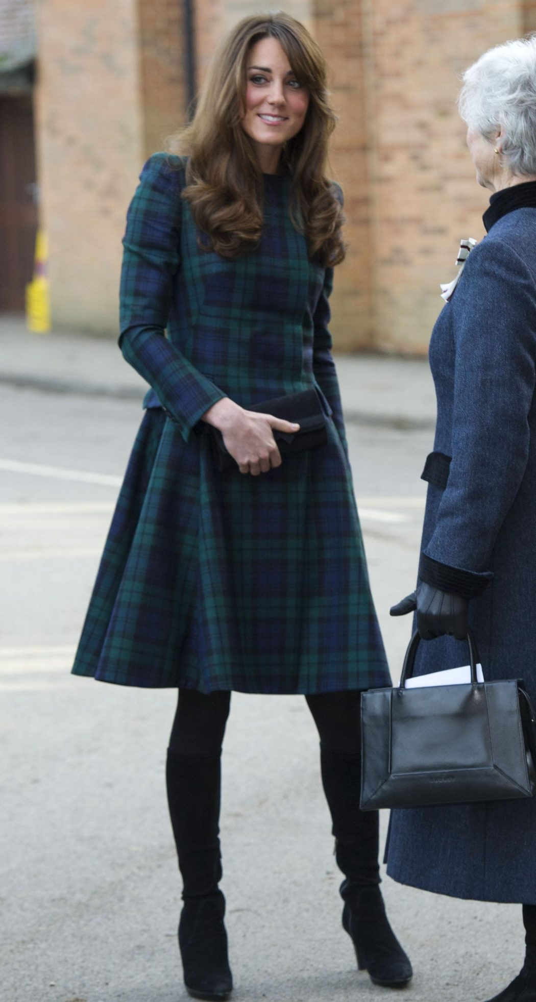Kate-Middleton-McQueen-Tartan The Most Famous Celebrities Clothing Brands