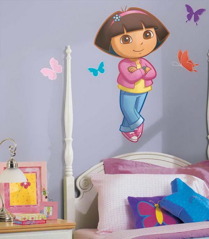 Kids-Bedroom-Dora-Wall-Sticker Amazing and Catchy Wall Stickers for Home Decoration