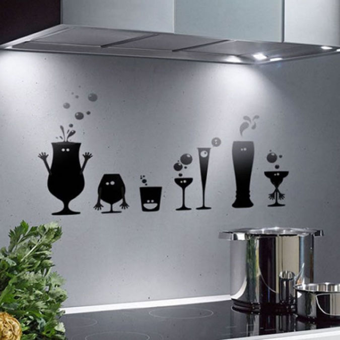 Kitchen-Walls-Decor-With-Vinyl-Stickers Amazing and Catchy Wall Stickers for Home Decoration