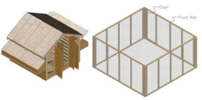 Large-chicken-coop-with-run How to Build Your Own Inexpensive Chicken Coop Easily