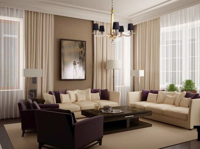Living-Room-Design-Ideas-with-White-Curtain 20+ Awesome Images for the Latest Models of Curtains