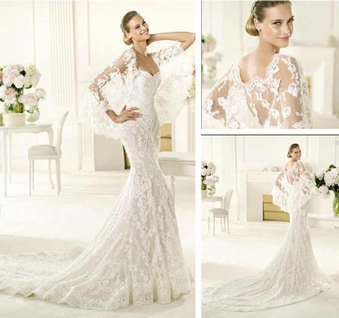 Long-Sleeve-Lace-Wedding-Dress-2013-XZ668- 70 Breathtaking Wedding Dresses to Look like a real princess