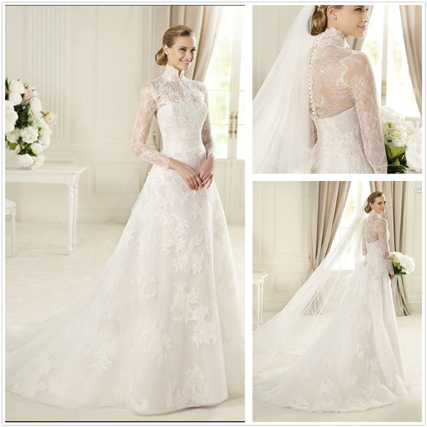 Long-Sleeve-Wedding-Gowns-XZ677- 70 Breathtaking Wedding Dresses to Look like a real princess