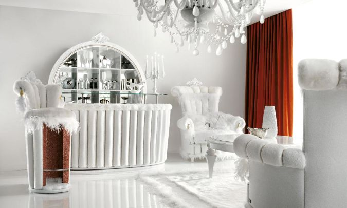 Luxurious-White-Living-Room-Interior-with-Red-Curtains 20+ Awesome Images for the Latest Models of Curtains