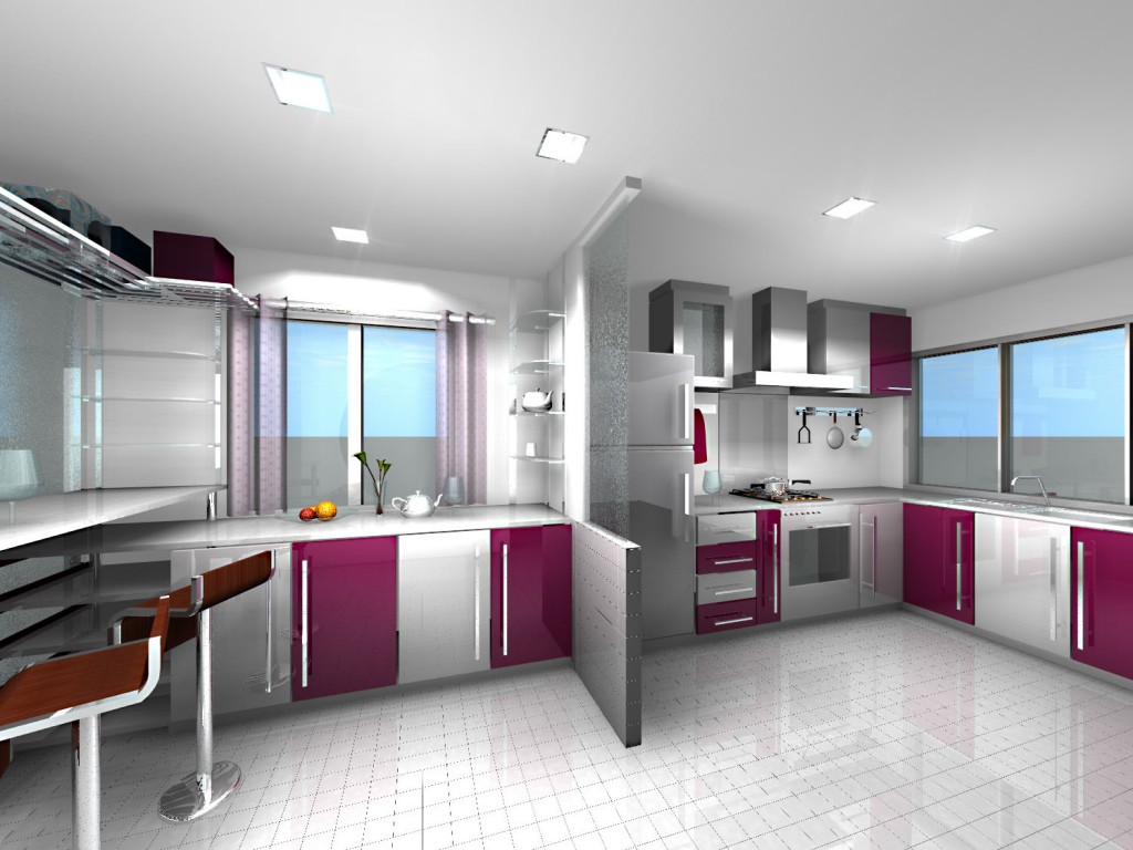 Luxury-Kitchen-Color-Design Frugal And Stunning kitchen decoration ideas