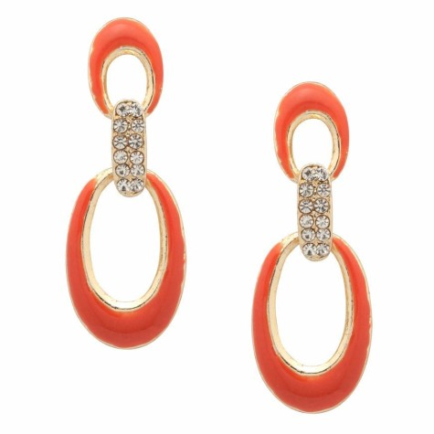 MOOD_Orange_Crystal_Drop_Earri-475x475 How To Use Earrings With Straight Hair, Tied or with Veil