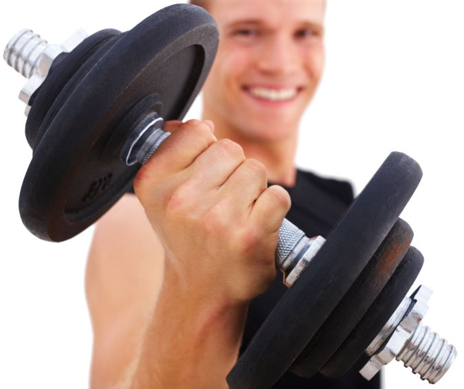 Male-Barbell1 How to Lose Arm Fat