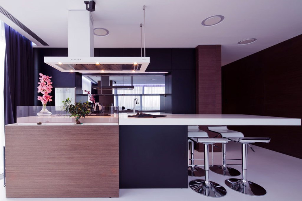 Modern-Black-Brown-White-Kitchen-Design Awesome German Kitchen Designs