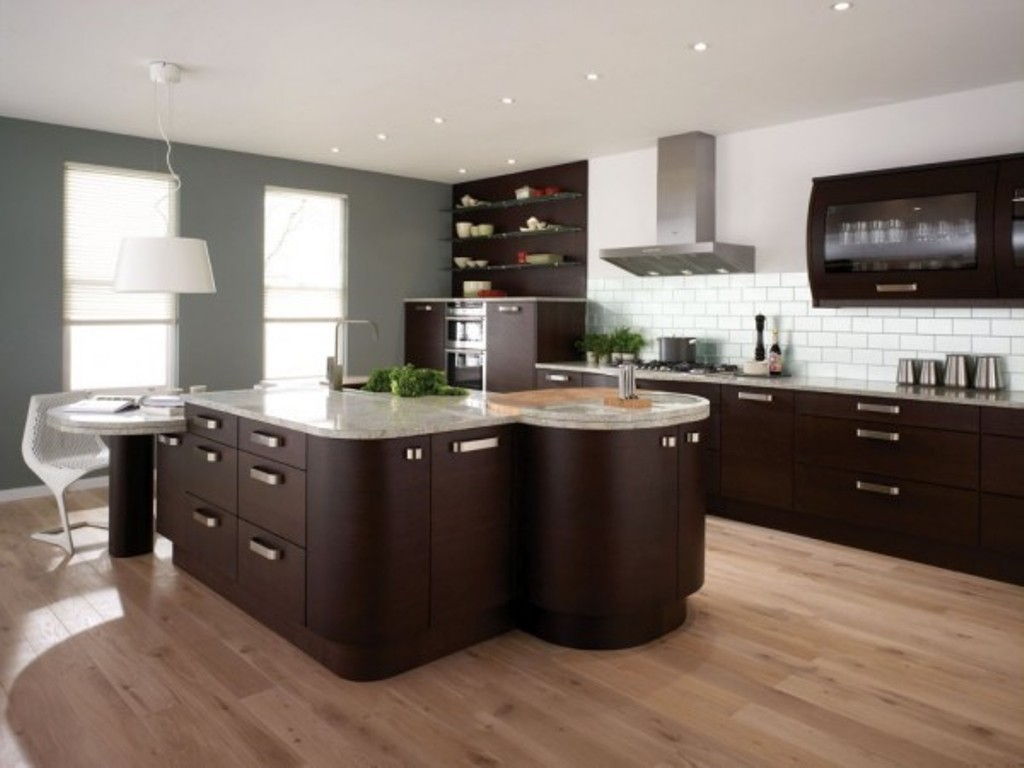 Modern-Brown-Kitchen-Design Frugal And Stunning kitchen decoration ideas