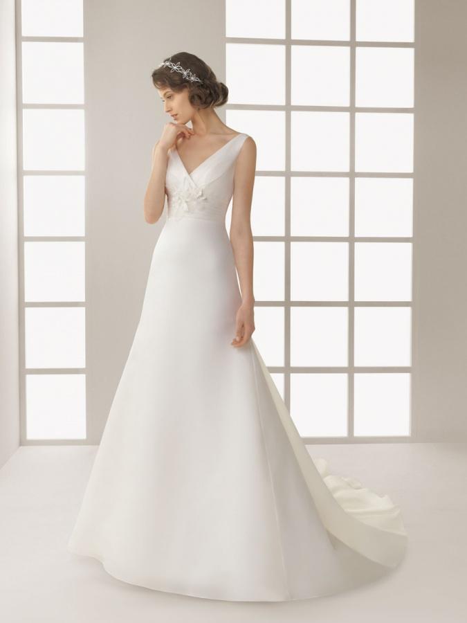 Modern-Floor-Length-V-neckline-Sleeveless-A-line-Wedding-Dress-with-Brush-Train-AL1061 70 Breathtaking Wedding Dresses to Look like a real princess