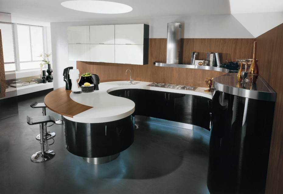 Modern-Italian-Kitchen-Round-Barplot-930x640 Frugal And Stunning kitchen decoration ideas