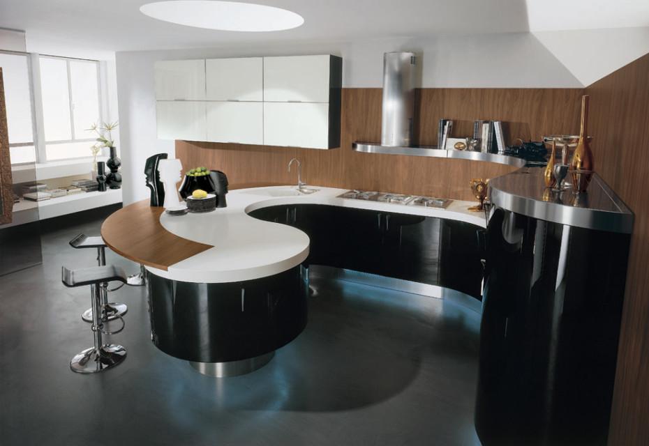 Modern-Italian-Kitchen-Round-Barplot-930x640 Frugal And Stunning kitchen decoration ideas