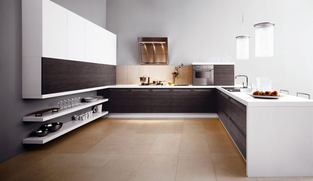 Modern-Simple-and-Spacious-Kitchen Breathtaking And Stunning Italian Kitchen Designs