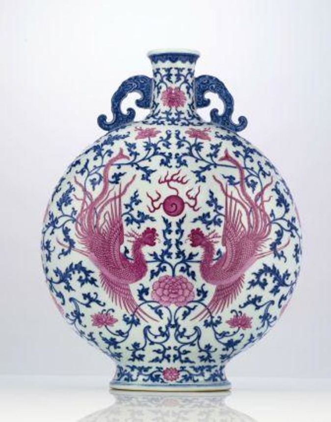 Moonflask-in-Pink-and-Blue 10 Most Expensive Antiques Ever Sold