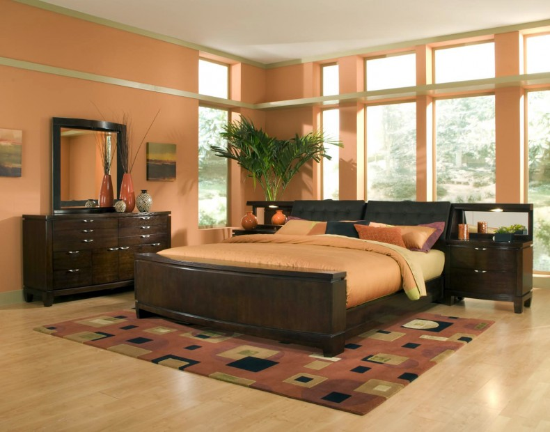 Natural-Orange-Interior-Bedroom Fabulous Orange Bedroom Decorating Ideas and Designs