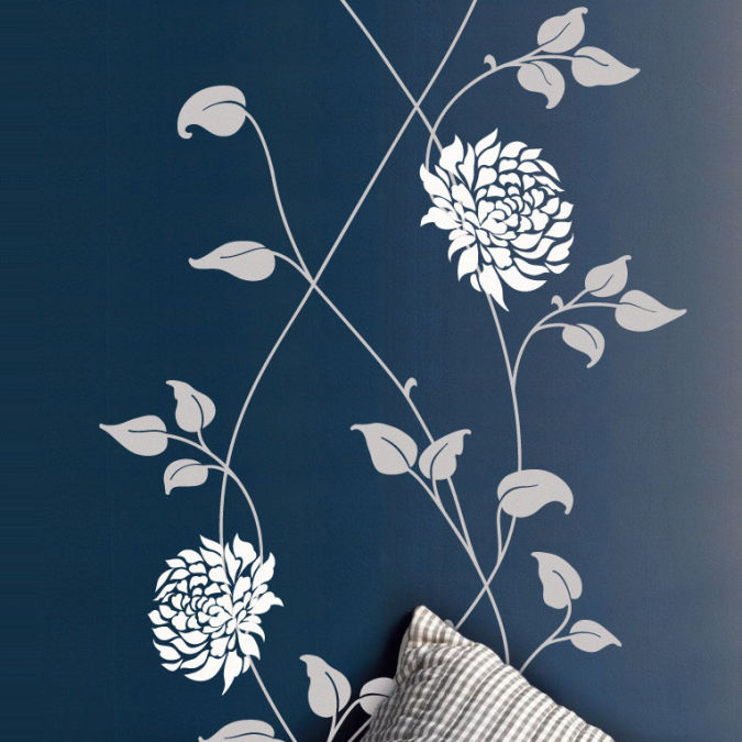 New_Flowers_wall_sticker_square_by_vinyl_impression_dark Amazing and Catchy Wall Stickers for Home Decoration