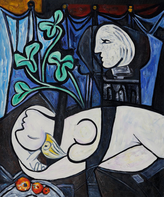 Nude-Green-Leaves-and-Bust TOP 10 Most Expensive Paintings in The World