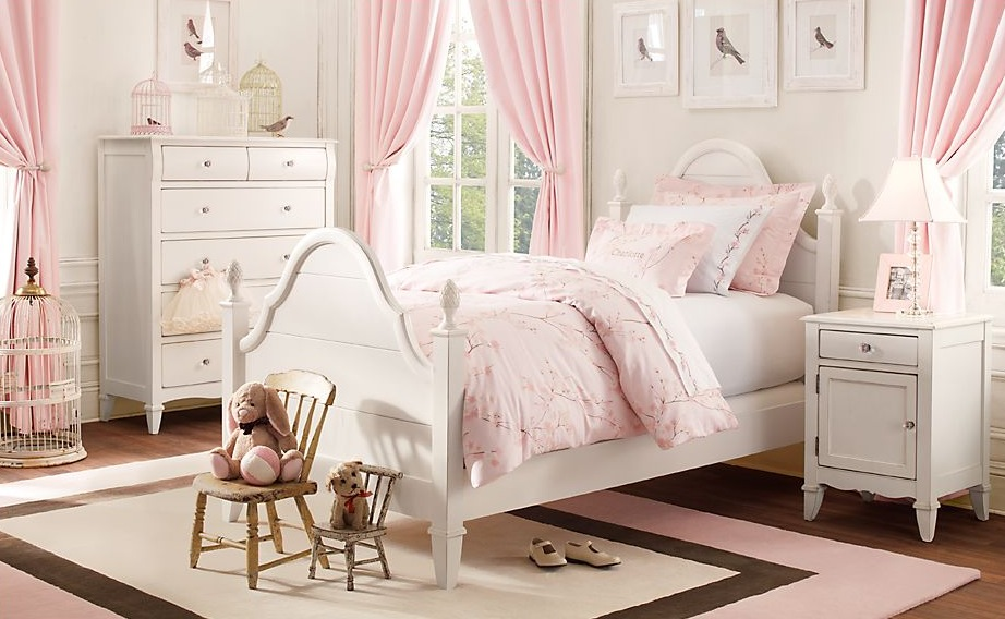 Pink-white-girls-room Girls' Bedroom Decoration Ideas and Tips