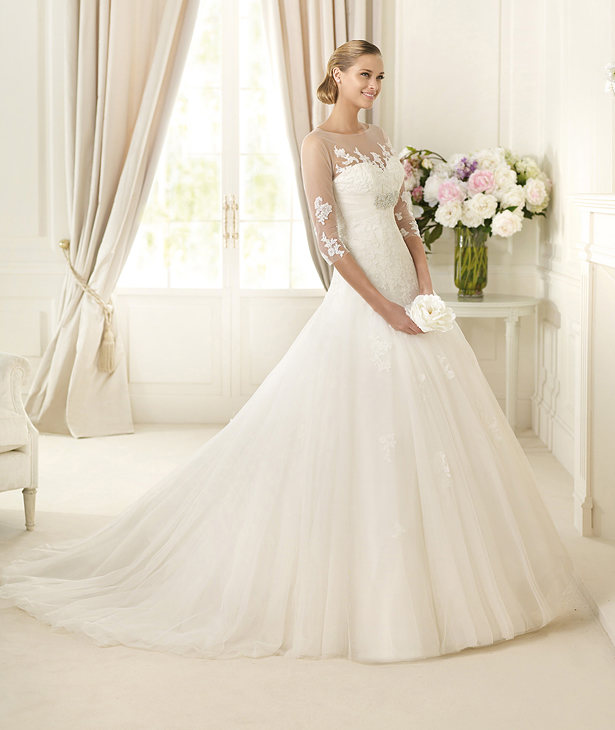Pronovias-2013-Bridal-Dress-DAIFA 70 Breathtaking Wedding Dresses to Look like a real princess
