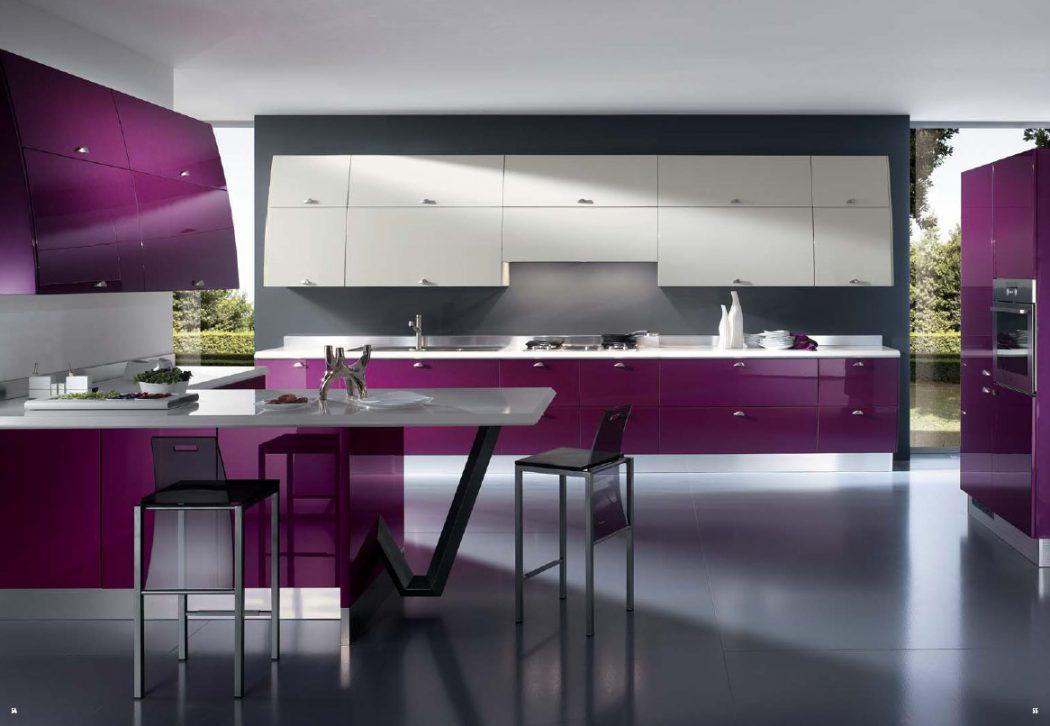 Purple-Italian-kitchen-design Breathtaking And Stunning Italian Kitchen Designs