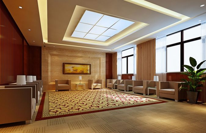 Reception-hall-suspended-ceiling-design Awesome and Dazzling Suspended Ceiling Decorations