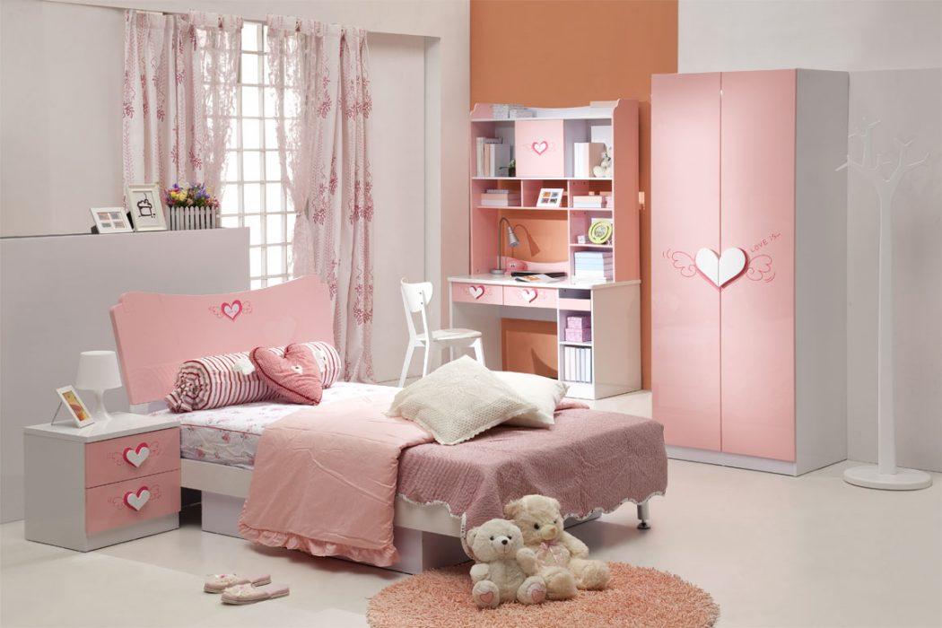 Remarkable-Pink-Girl-Bedroom-Furniture Girls' Bedroom Decoration Ideas and Tips