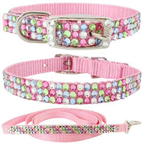 Rhinestone-Dog-Collars-C028M3-Bling-Pet-Collars-Swarovski-Pink-Pastel-Colored-Crystals-475x475 Dress Your Dog In Jewels