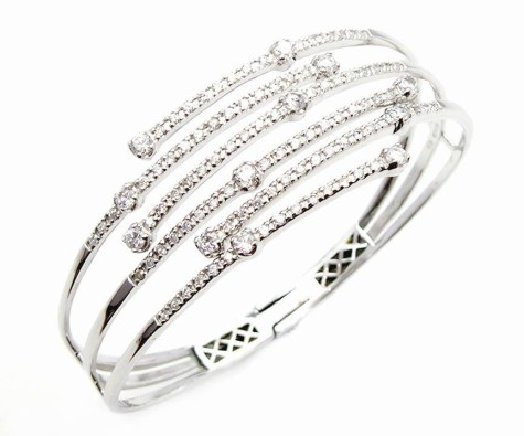 Silver_Bangle_With_CZ_Rhodium_Plated-475x395 How To Use Silver Accessories In Different Occasions ?