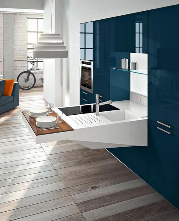 Small-Kitchen-Design-from-Snaidero Frugal And Stunning kitchen decoration ideas