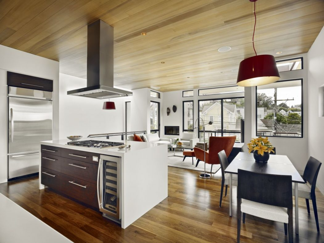 Small-kitchen-design-with-dining-room-and-living-area Awesome German Kitchen Designs