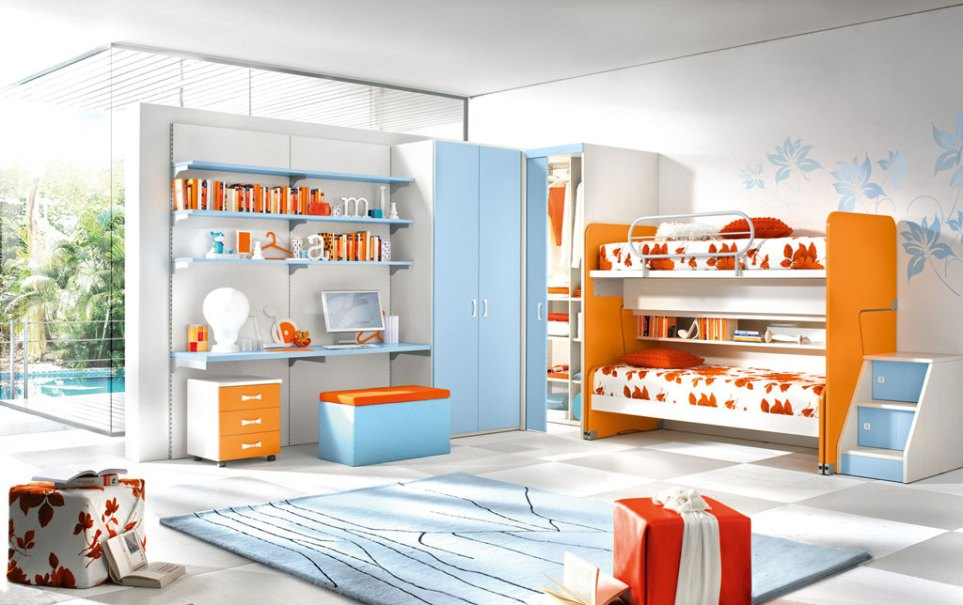 Stylish-Bedroom-for-Children Fabulous Orange Bedroom Decorating Ideas and Designs