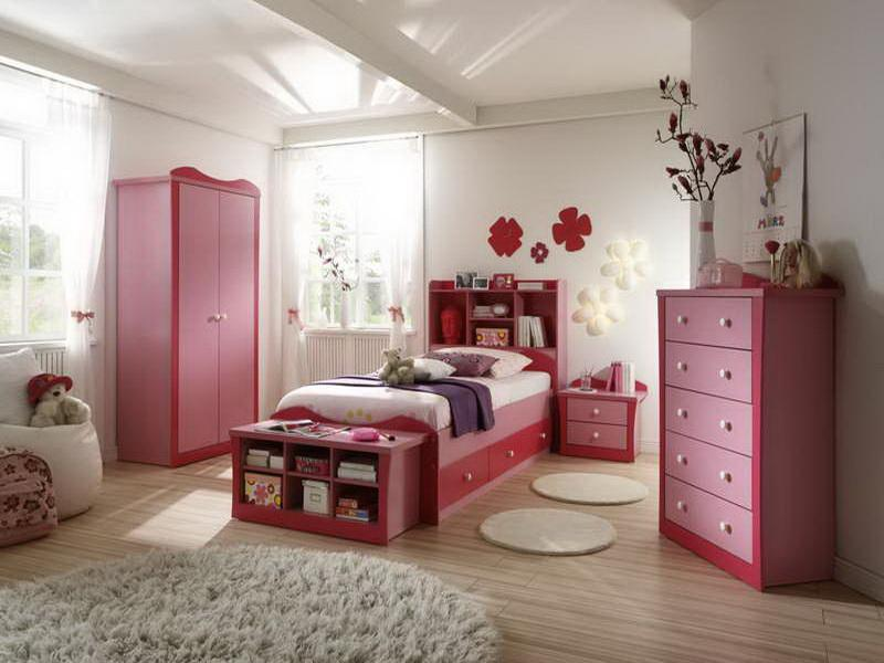 Teenage-Girls-Decorating-a-Room-With-Hardwood-Floors Girls' Bedroom Decoration Ideas and Tips