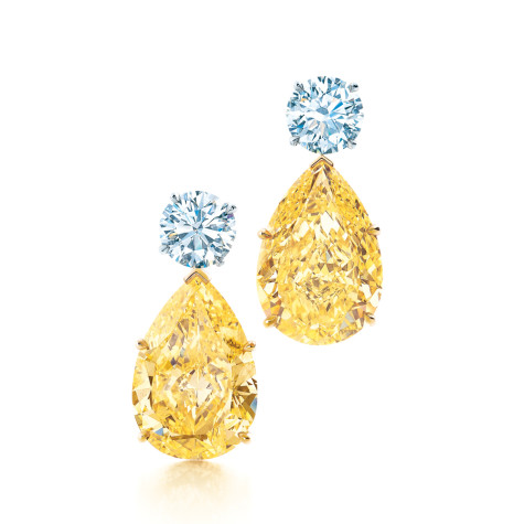 Tiffany-Co.-Yellow-and-white-diamond-earrings-475x475 How To Use Earrings With Straight Hair, Tied or with Veil