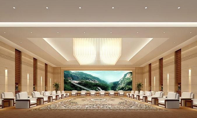 VIP-reception-hall-wall-decoration Awesome and Dazzling Suspended Ceiling Decorations