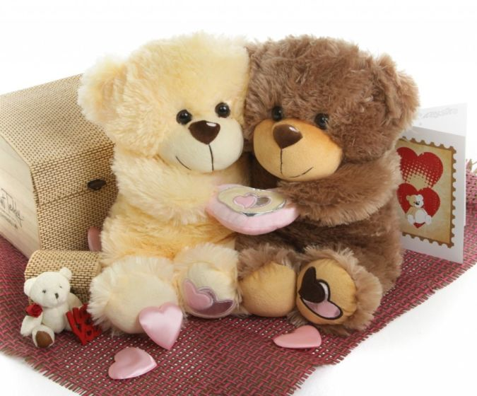 Valentines_Teddy_Bear_Gift_Package_Be_Mine_Big_Love_Vanilla_and_Mocha How to Choose Birthday Care Package