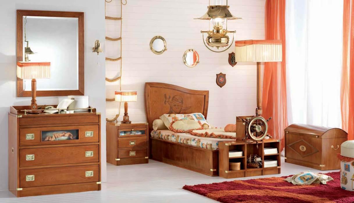 Vivid-sea-Themed-Kids-Bedroom Fabulous Orange Bedroom Decorating Ideas and Designs