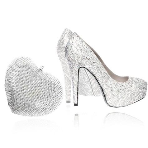 Vividbling-crystal-heart-bag-silver-and-shoes-silver-set-475x475 How To Use Silver Accessories In Different Occasions ?