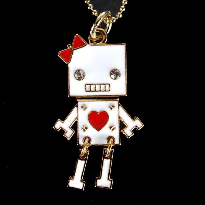 White-Necklaces-Womens-Fashion Best 10 Robot Gift Ideas