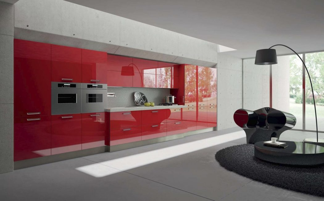 acrylic Awesome German Kitchen Designs
