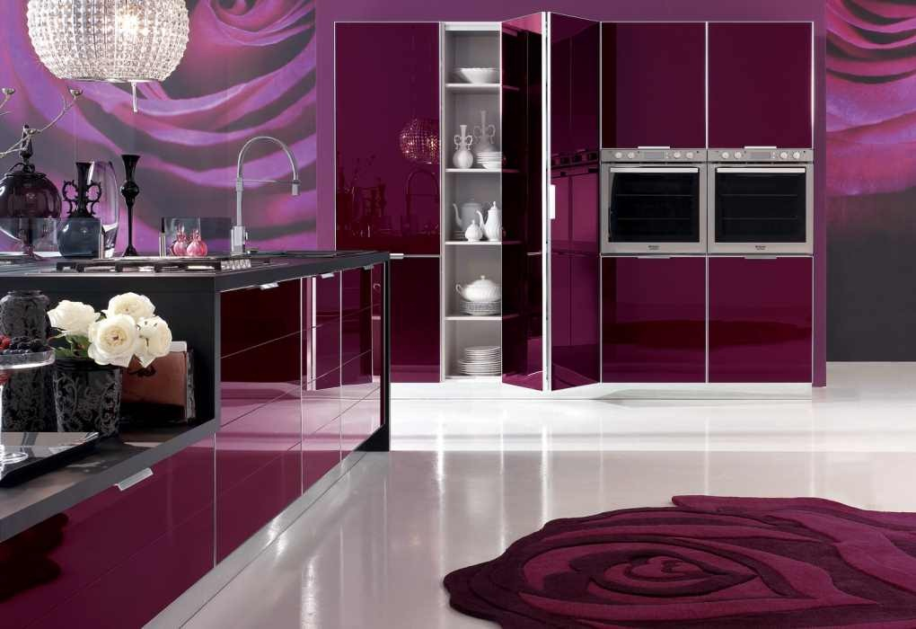 amazing-kitchen-purple-color-trends Frugal And Stunning kitchen decoration ideas