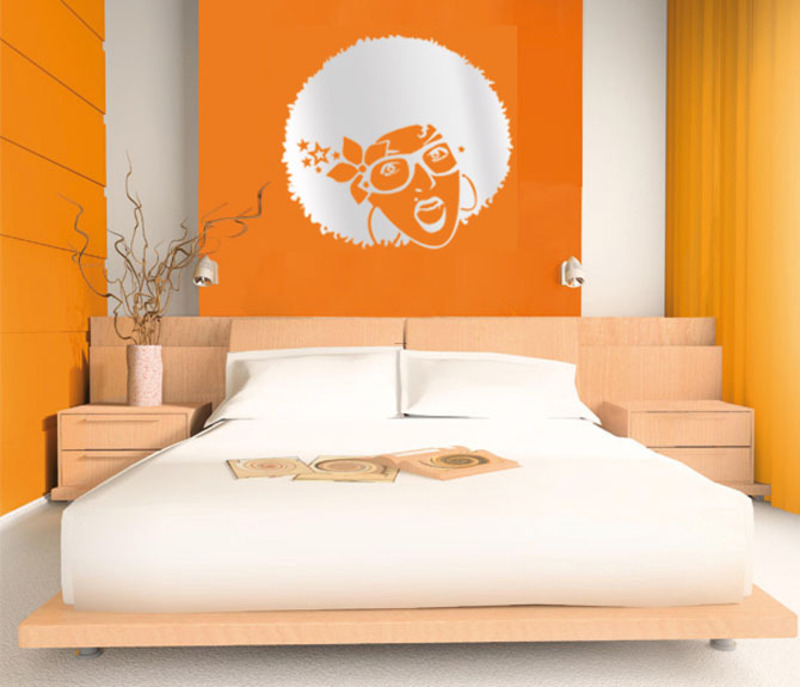 bedroom-orange-wall. Fabulous Orange Bedroom Decorating Ideas and Designs